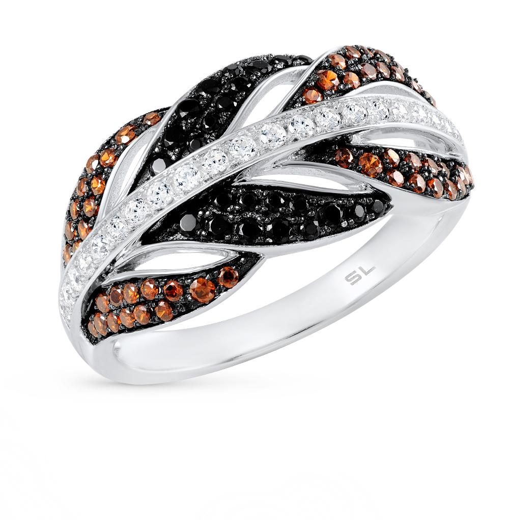 Фото «золотое кольцо с бриллиантами, пренитами, гранатами, цитринами, аметистами, фианитами и топазами»