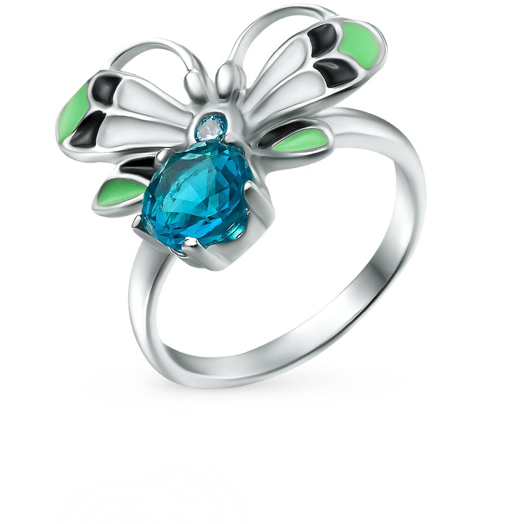 Фото «серебряное кольцо с алпанитом, фианитами и эмалью»