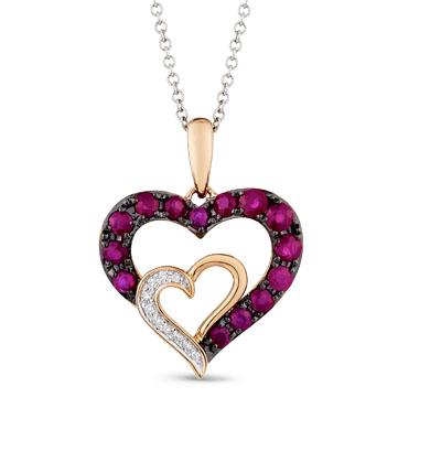 Фото «золотая подвеска с бриллиантами и рубинами»