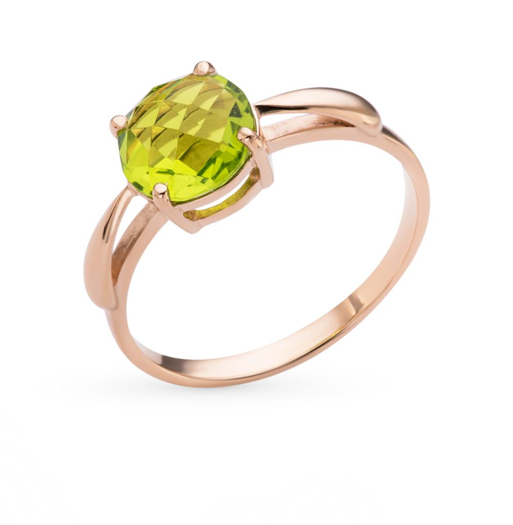 Фото «золотое кольцо с кварцами синтетическими»