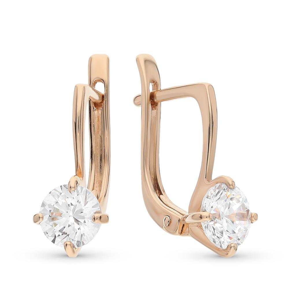 Фото «золото серьги с кристаллами»