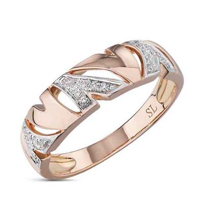 Фото «серебряное кольцо с бриллиантами и фианитами»