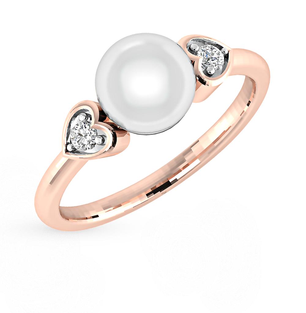Фото «золото кольцо с бриллиантами и культивированными жемчугом»