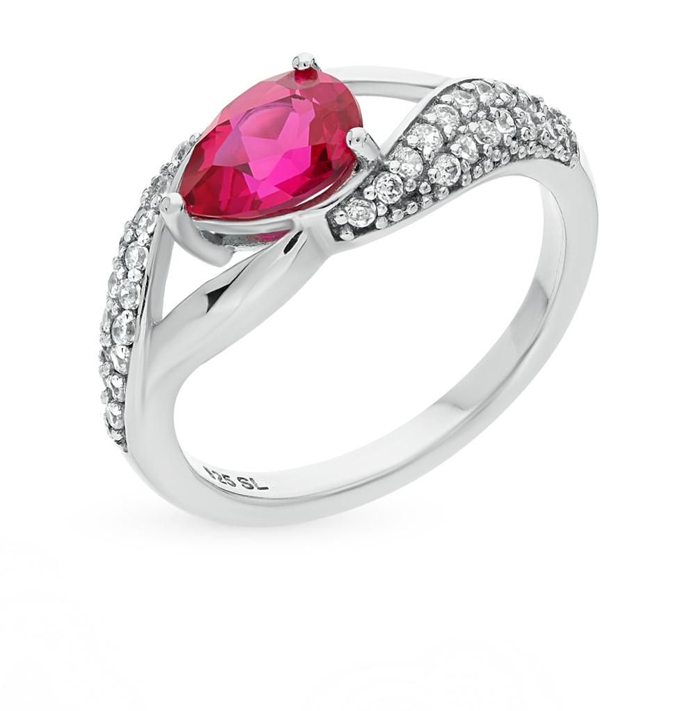 Фото «золотое кольцо с бриллиантами, рубинами синтетическими, фианитами и сапфирами»
