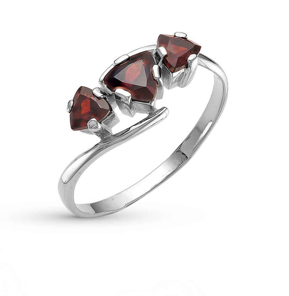 Фото «серебряное кольцо с гранатами»