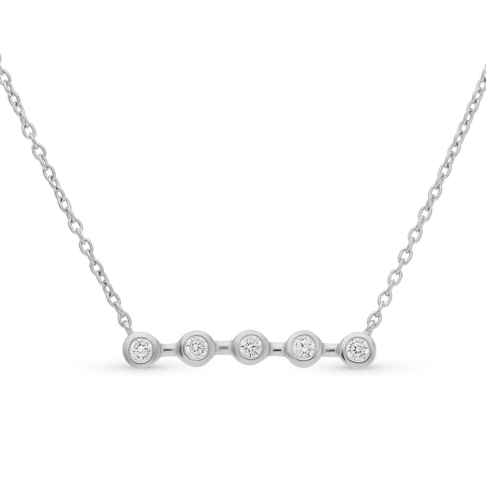 Фото «шейное украшение из серебра с фианитом»