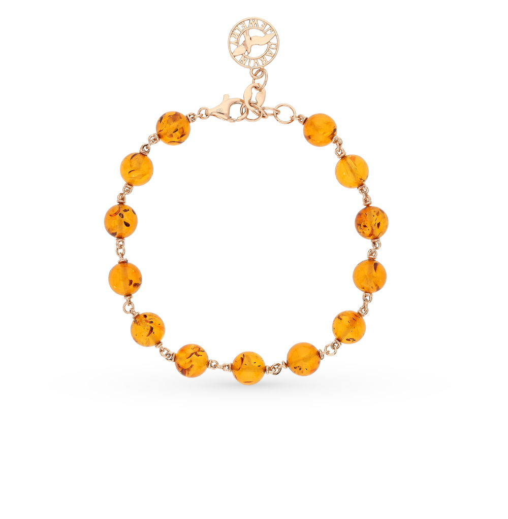 Фото «золотой браслет с янтарём»