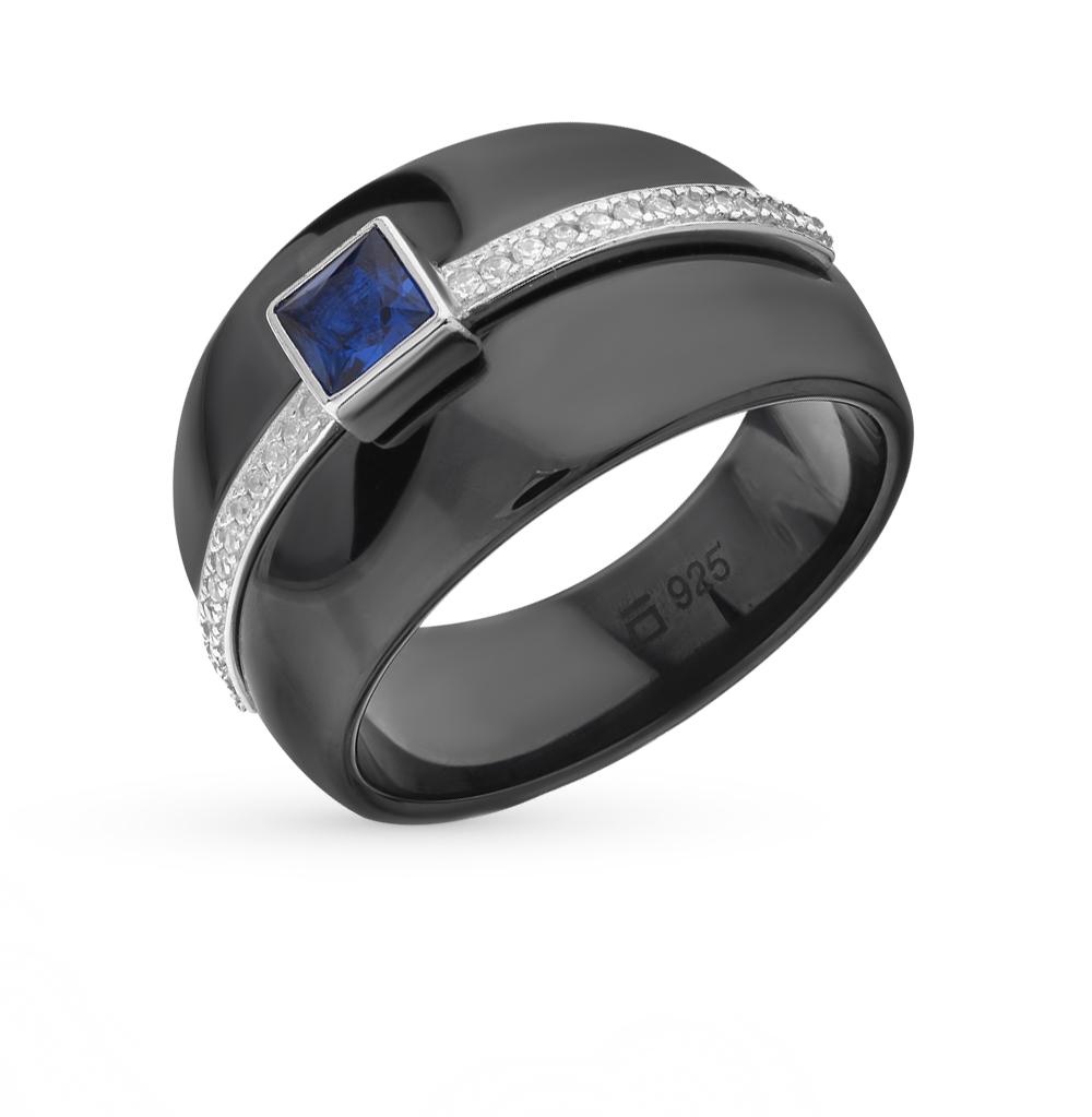 Фото «кольцо из керамики и серебра с фианитом»