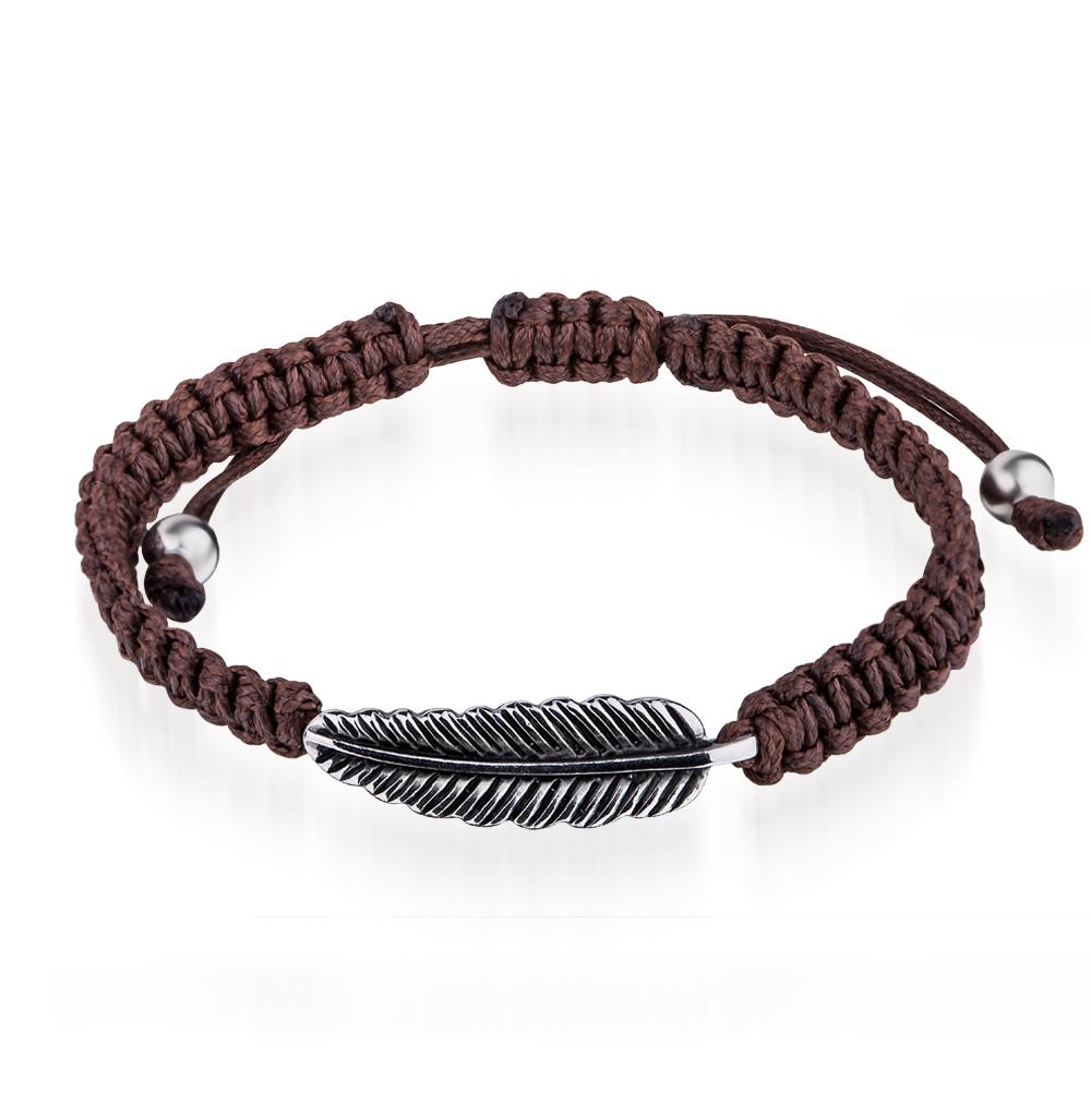 Фото «браслет из текстиля и стали с сталью и эмалью»