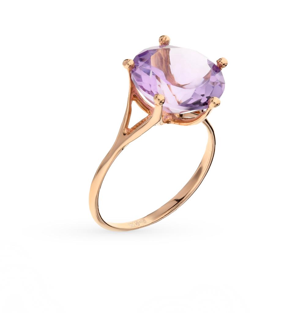 Фото «золото кольцо с аметистами и топазами»