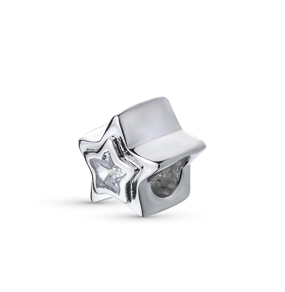 Фото «серебряная подвеска - шарм с фианитами»