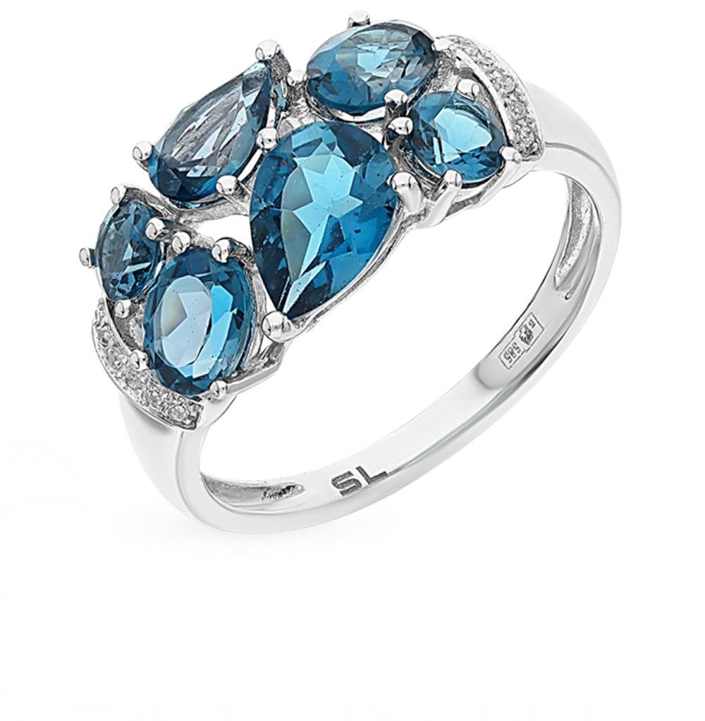 Фото «золото кольцо с бриллиантами и топазами»