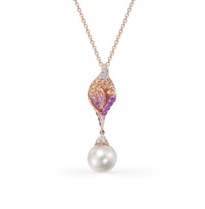 Фото «золотая подвеска с бриллиантами, сапфирами и жемчугом»