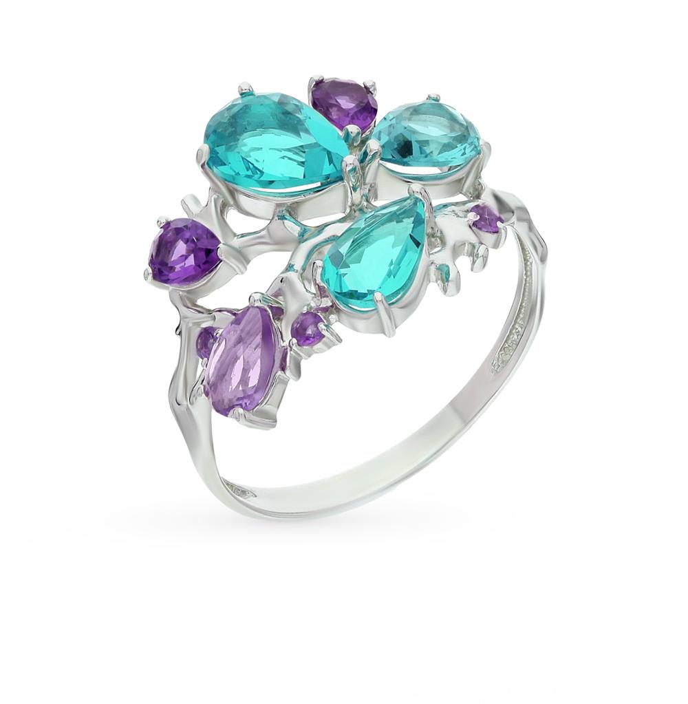 Фото «серебряное кольцо с аметистами»