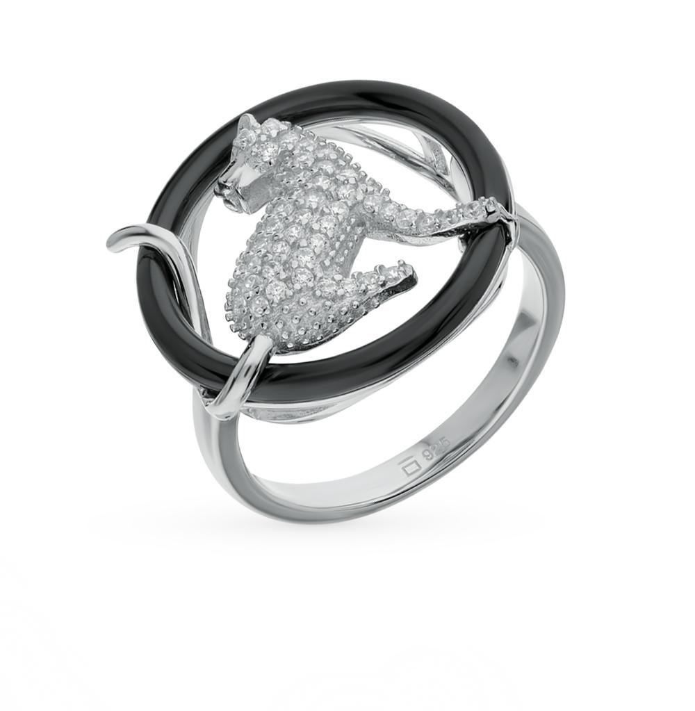 Фото «серебряное кольцо с фианитами и керамиками»
