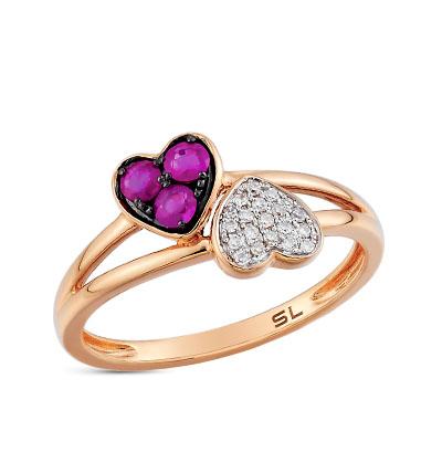 Фото «золотое кольцо с бриллиантами, рубинами и сапфирами»