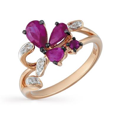 Фото «золотое кольцо с бриллиантами, пренитами, гранатами, цитринами и рубинами»