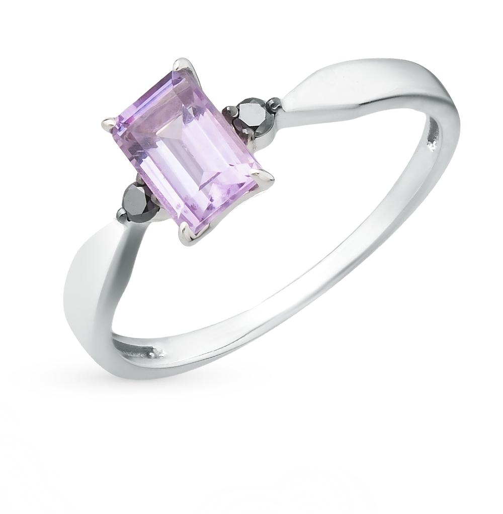 Фото «золотое кольцо с бриллиантами и аметистами»