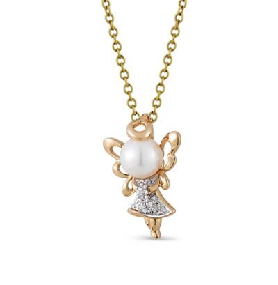 Фото «золотая подвеска с бриллиантами, фианитами и жемчугом»