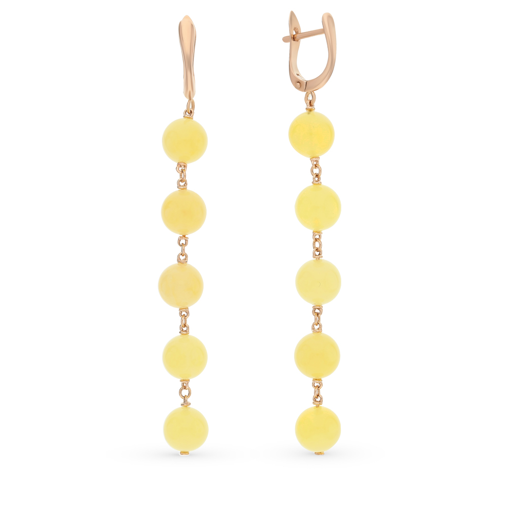 Фото «золото серьги с янтарём»