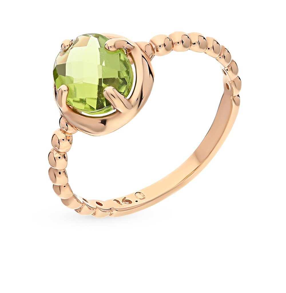 Фото «золотое кольцо с хризолитом»