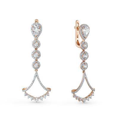 Фото «золотые серьги с топазами, сапфирами и бриллиантами»